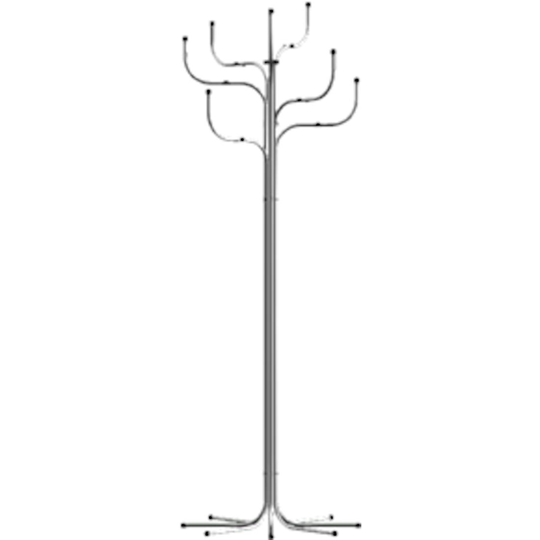 Fritz Hansen Coat Tree stumtjener, Forkromet, Timm Møbler